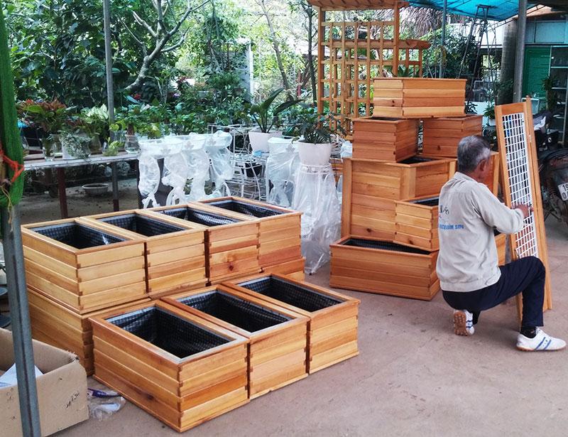 Chậu gỗ trồng hoa cây cảnh 91