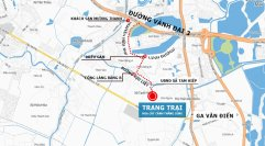 Bản đồ Trang trại hoa cây cảnh thăng Long - Hướng đi từ Linh đàm tới