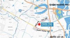 Bản đồ Trang trại hoa cây cảnh thăng Long - Hướng đi từ Pháp Vân Ngọc Hồi tới
