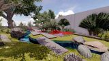 Thiết kế sân vườn nhà ông Hữu ở Nho Quan – Ninh Bình