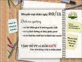 Khuyến mại tưng bừng chào mừng ngày nhà giáo Việt Nam 20-11