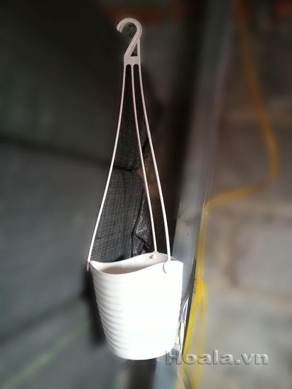 Chậu nhựa sóng dây xích trồng cây