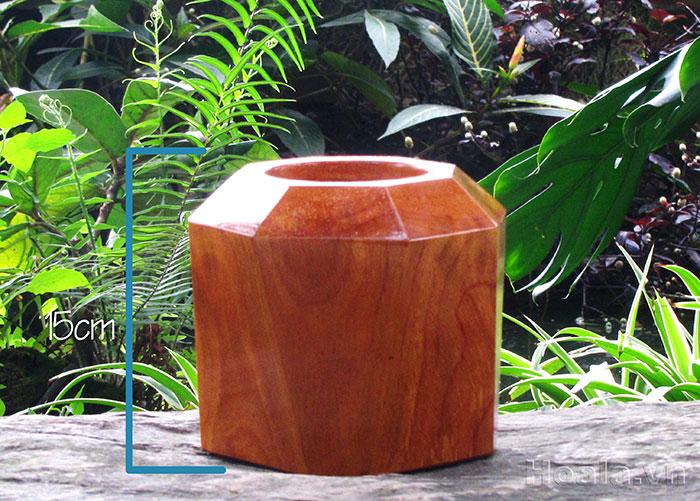 Chậu gỗ trồng cây để bàn 89