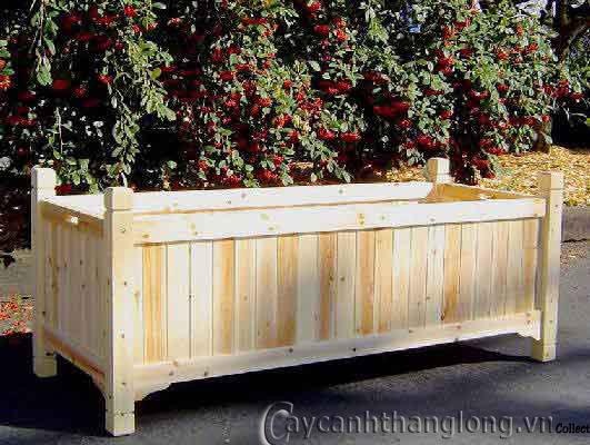 Bồn gỗ trồng hoa cây cảnh 9