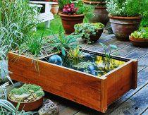 Bồn chậu gỗ trồng cây thủy sinh 31