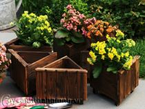 Bồn gỗ trồng hoa cây cảnh 13