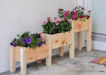 Bồn gỗ trồng hoa cây cảnh 05