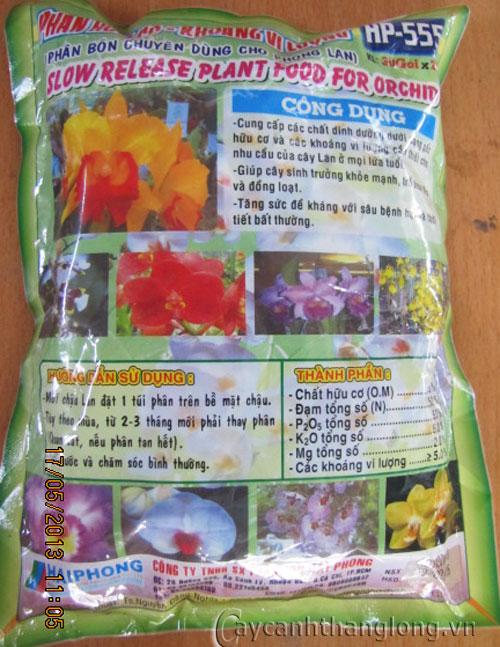 Phân bón chuyên dùng cho phong lan HP-555