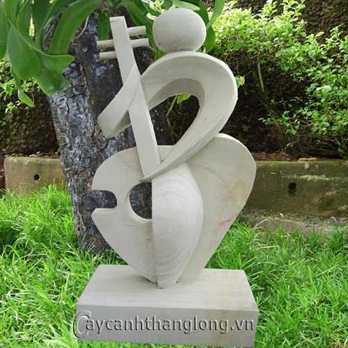 Tượng vườn Thiếu nữ gảy đàn