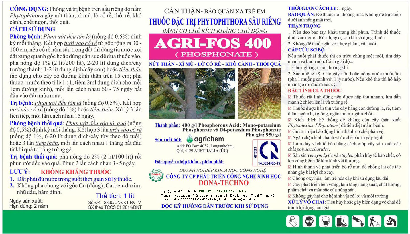 Agri-fos 400 PHOSPHONATE